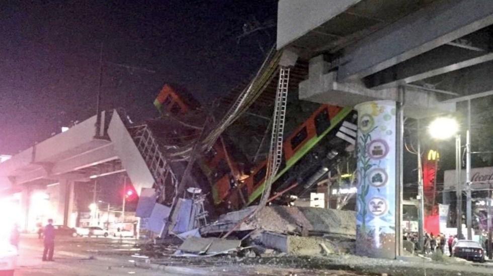 Colapsa estructura que conecta las estaciones Tezonco y Olivos de la Línea 12 del Metro - Foto de Suuma CDMX
