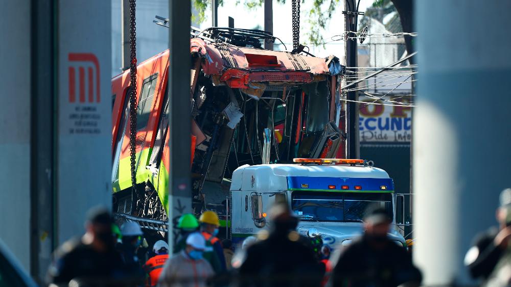 Retirados los vagones colapsados en Línea 12 del Metro - Metro vagones colapso Línea 12 CDMX