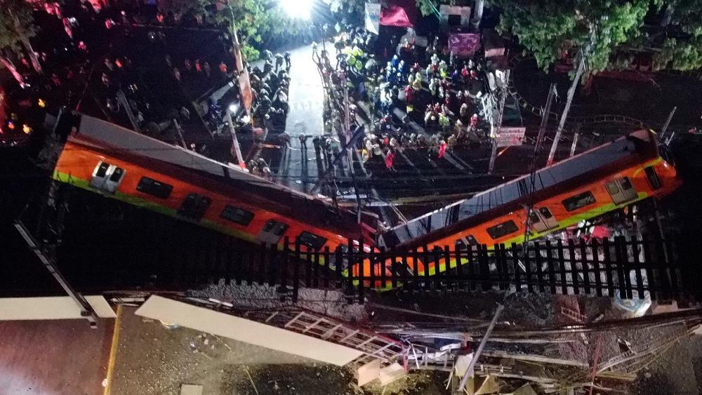 Metro Linea 12 desplome CDMX