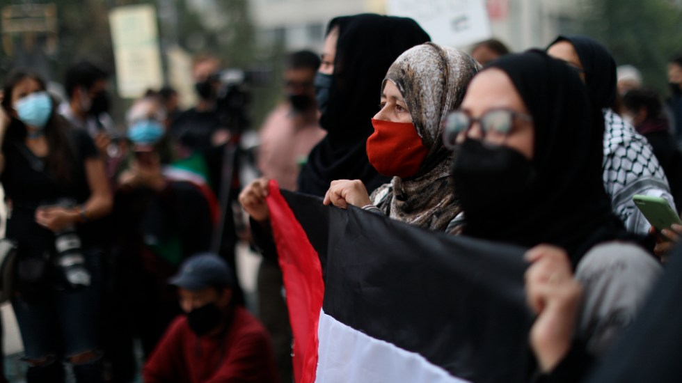 Manifestantes en México piden cese de ataques de Israel a Palestina - México Israel Palestina manifestantes