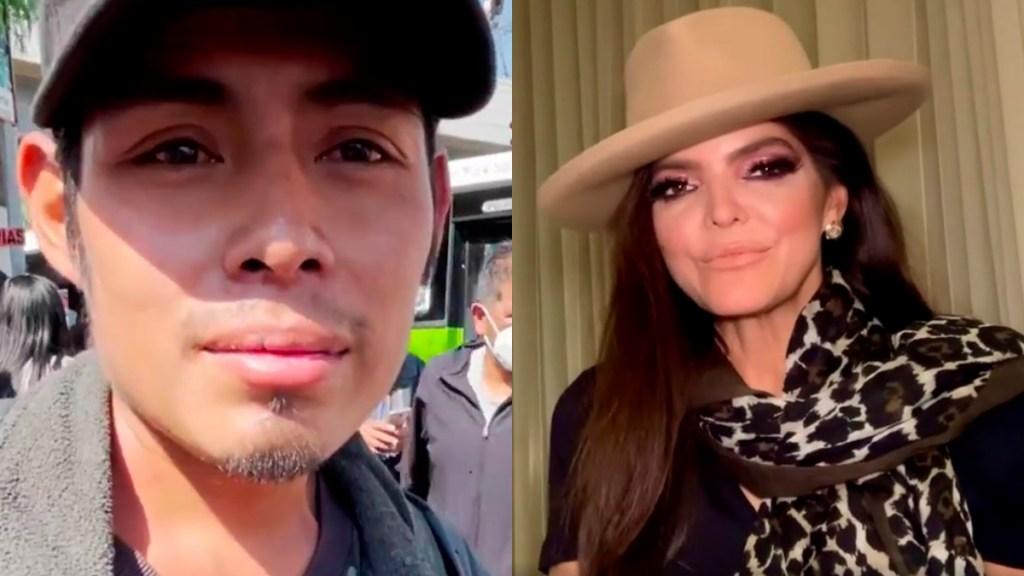#Video Ana Bárbara dedica canción a Miguel, joven que narró colapso en el Metro - Miguel Córdova y Ana Bárbara. Captura de pantalla