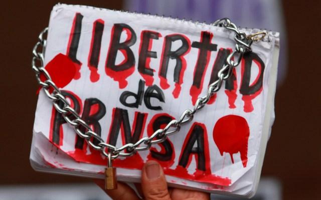 Hay una agresión contra la prensa en México cada 12 horas: Article 19 - prensa México UE condena asesinatos de tres periodistas en seis días en México. Foto de EFE