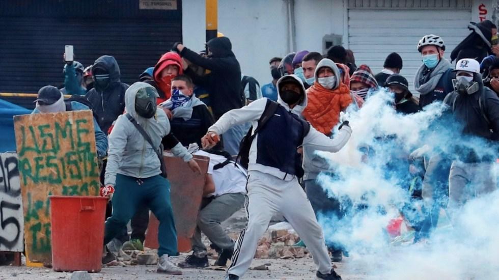 La Primavera Latinoamericana - Protestas en Colombia. Foto de EFE