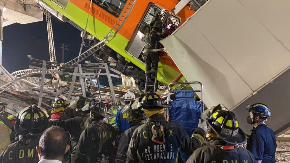 Subsecretario de Energía pide no descartar un posible sabotaje en el Metro y borra tuit - Servicios de emergencia laboran en zona de desastre por colapso en Línea 12 del Metro, donde al menos 23 personas murieron y otras 75 resultaron heridas. Foto de @SGIRPC_CDMX