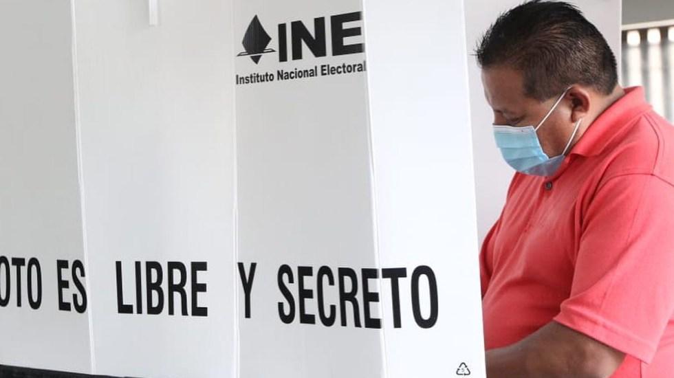Aumenta la tensión a una semana de las elecciones del 6 de junio - Simulacro de elecciones 2021. Foto de @lorenzocordovav