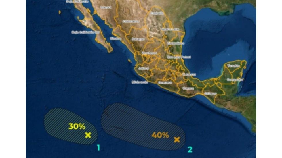 SMN vigila dos zonas de inestabilidad en Pacífico mexicano - SMN tormentas inestabilidad Pacífico