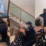 #Video Policías forcejean con mujer de la tercera edad para desalojarla de casa en Cancún