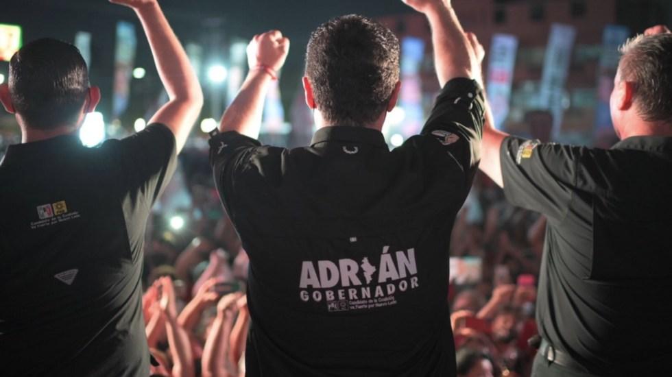 Adrián de la Garza y Samuel García se declaran ganadores de elección en NL - Adrián de la Garza y Samuel García se declaran ganadores. Foto de Twitter @AdrianDeLaGarza