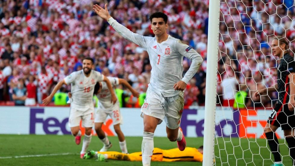 Morata y Oyarzábal meten a España en cuartos de la Euro - Álvaro Morata España Euro