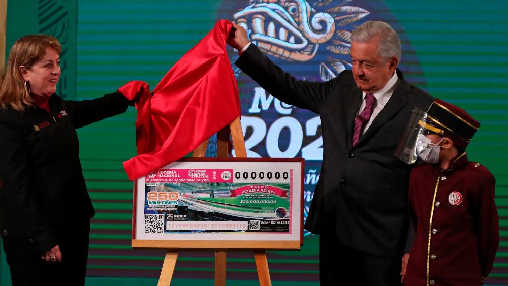 Lotenal rifará 22 inmuebles el 15 de septiembre; incluye palco en el Azteca - AMLO Lotenal López Obrador sorteo cachito 15 septiembre