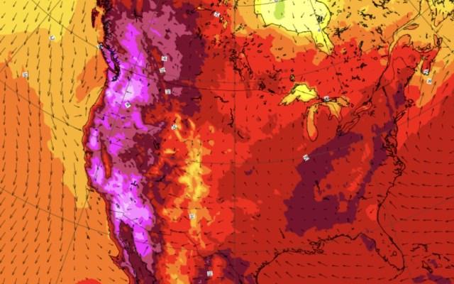 Alertan por grave ola de calor en Norteamérica - Calor OMM Norteamérica
