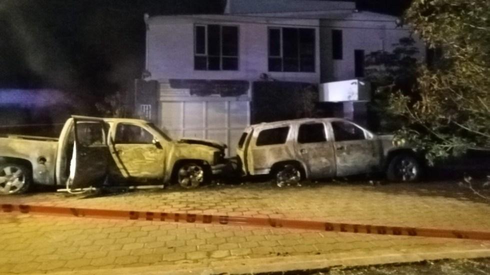 Incendian camionetas de alcaldesa de El Marqués, Querétaro - camionetas alcaldesa El Marqués Queretaro