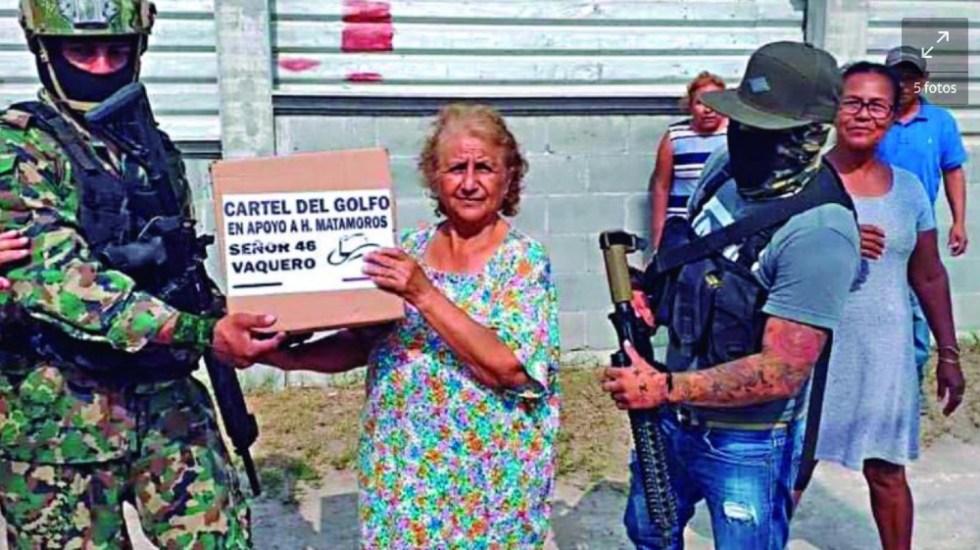 Crimen organizado reemplazó funciones del Estado mexicano en la pandemia: ONU - despensas Cártel del Golfo pandemia Tamaulipas crimen organizado