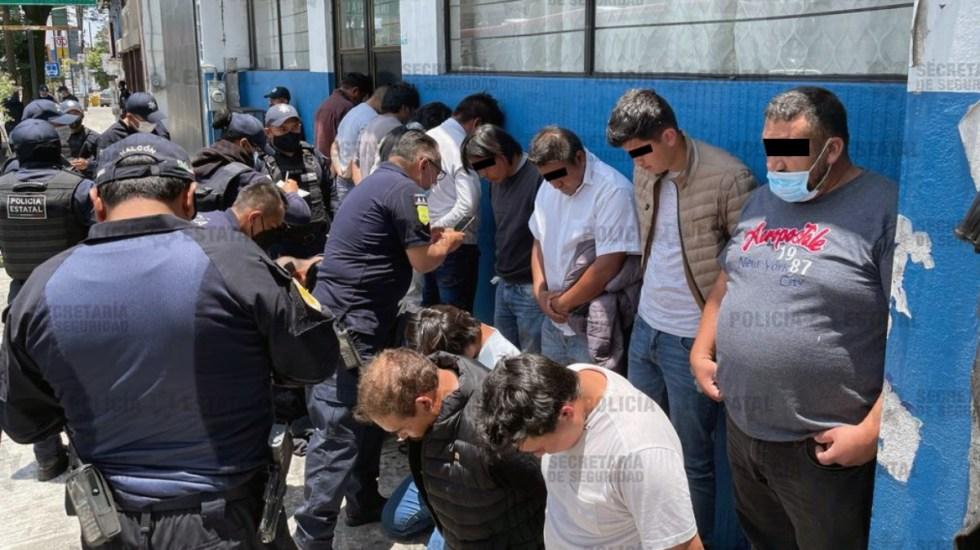 Detienen a 15 sujetos por agresiones en casilla electoral de Metepec - Detenidos Metepec casilla agresión