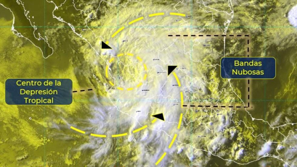 Dolores se desagrada a depresión tropical este sábado - Dolores tormenta tropical meteorológico