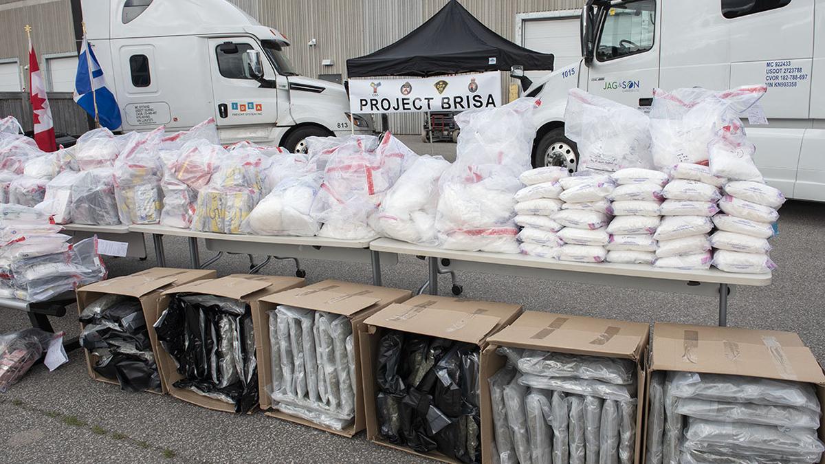 Policía de Canadá incauta más de una tonelada de drogas proveniente de México