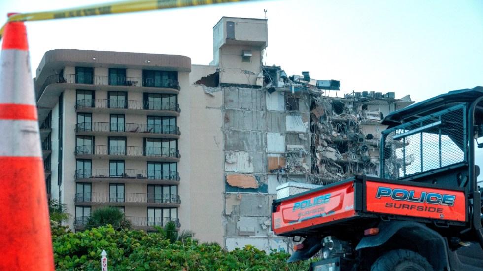 Suben a 3 muertos por derrumbe edificio en Miami, según medios - edificio colapsado Miami Surfside