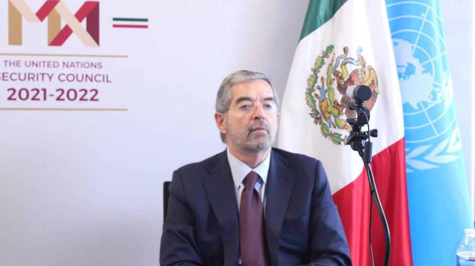 México encabeza discusión sobre las misiones políticas especiales de la ONU para asegurar la paz - Embajador Juan Ramón de la Fuente ante la ONU. Foto de @MexOnu