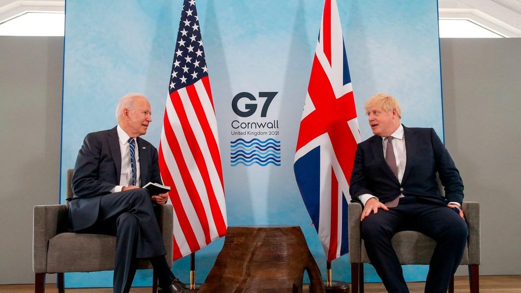 Biden y Johnson firman nueva Carta del Atlántico adaptada al siglo XXI - Encuentro bilateral entre Joe Biden y Boris Johnson. Foto de EFE