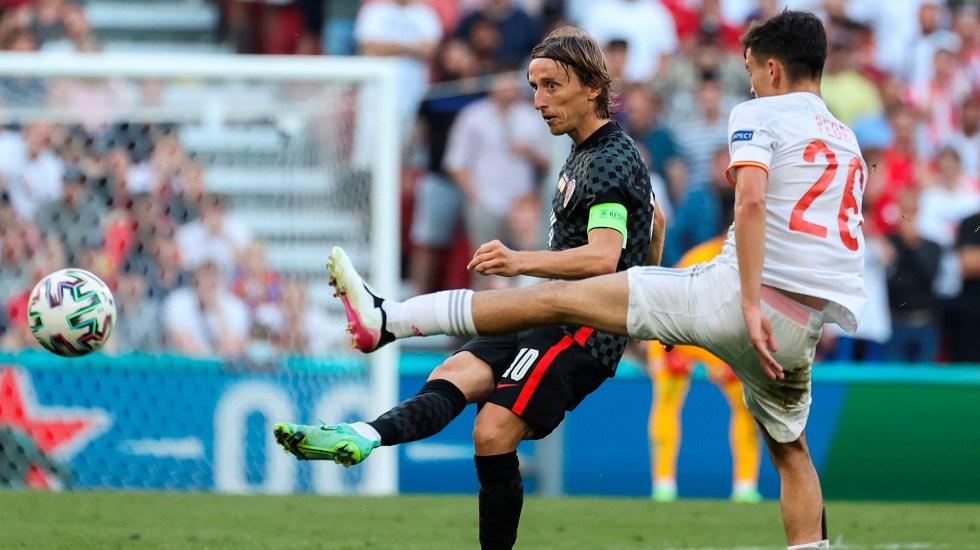 España vs Croacia se impone como el segundo partido con más goles de la Eurocopa - España vs Croacia durante la Eurocopa 2021. Foto de EFE
