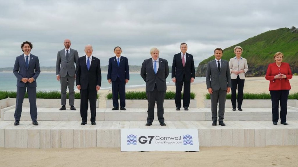 Biden convence al G7 de lanzar plan de infraestructuras frente a China - Biden convence al G7 de lanzar plan de infraestructuras frente a China. Foto de @POTUS