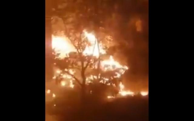 Fuerte incendio consume zona serrana de Casas Grandes, Chihuahua - Chihuahua Incendio Casas Grandes brigadistas México