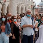 Las protestas por el certificado laboral Covid recorren Italia sin frenarlo - Italia durante pandemia de COVID-19. Foto de EFE