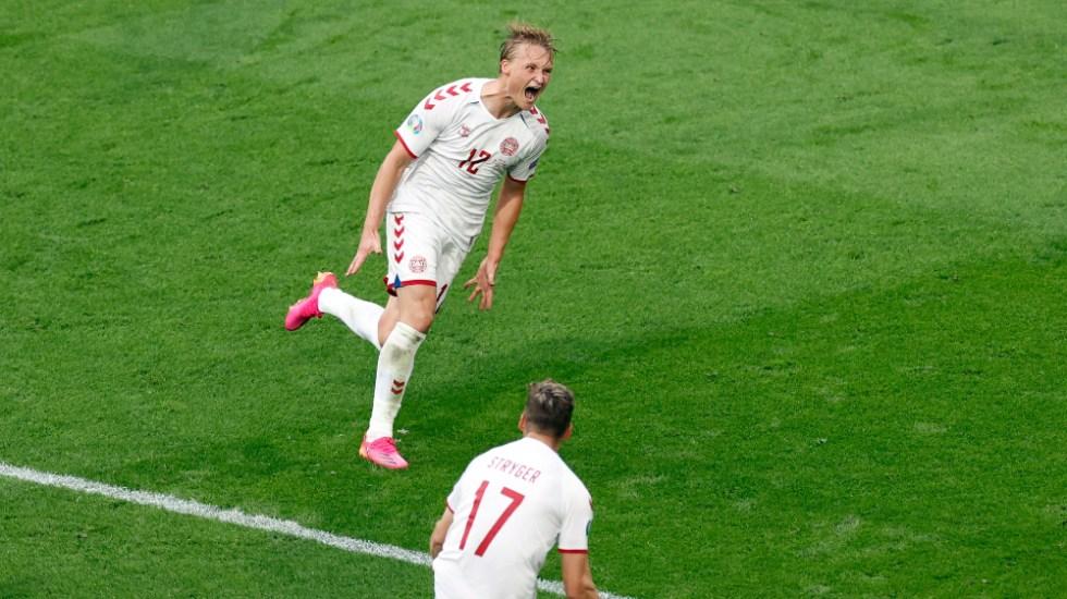 Dinamarca golea a Gales y espera rival en cuartos de la Eurocopa - Kasper Dolberg Dinamarca