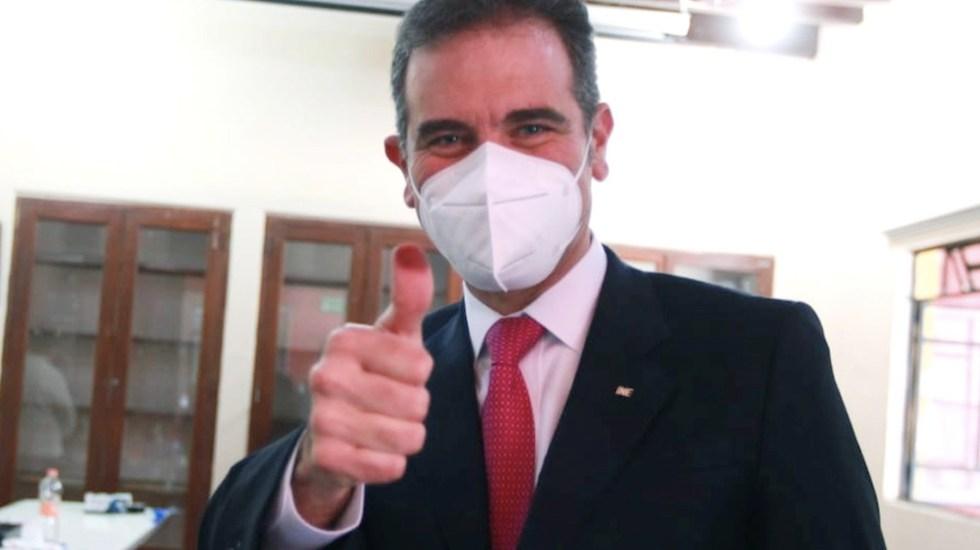 """""""La jornada electoral fue exitosa"""", asegura INE - Lorenzo Córdova consejero presidente del INE. Foto de INE"""
