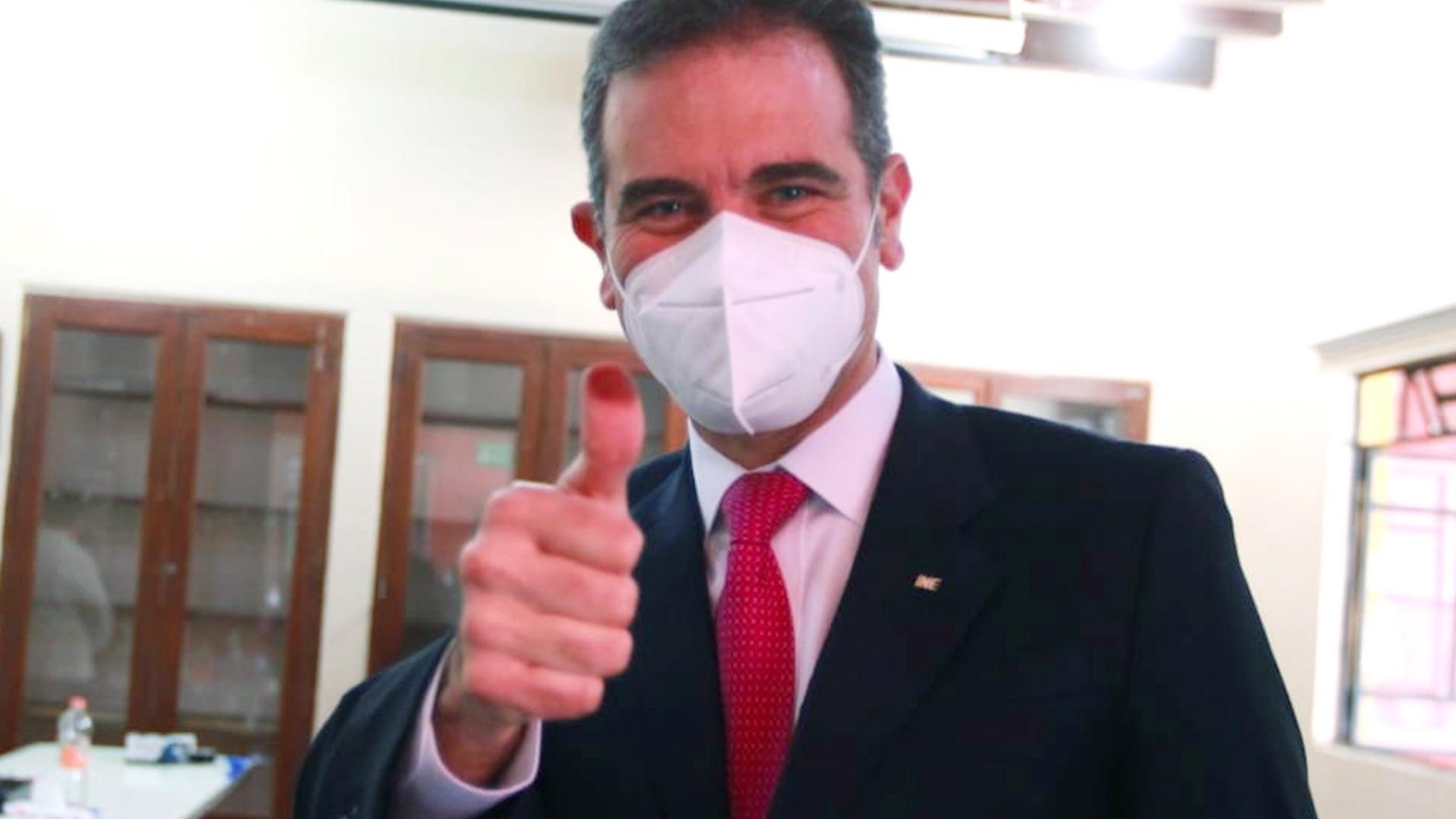 Lorenzo Córdova consejero presidente del INE. Foto de INE