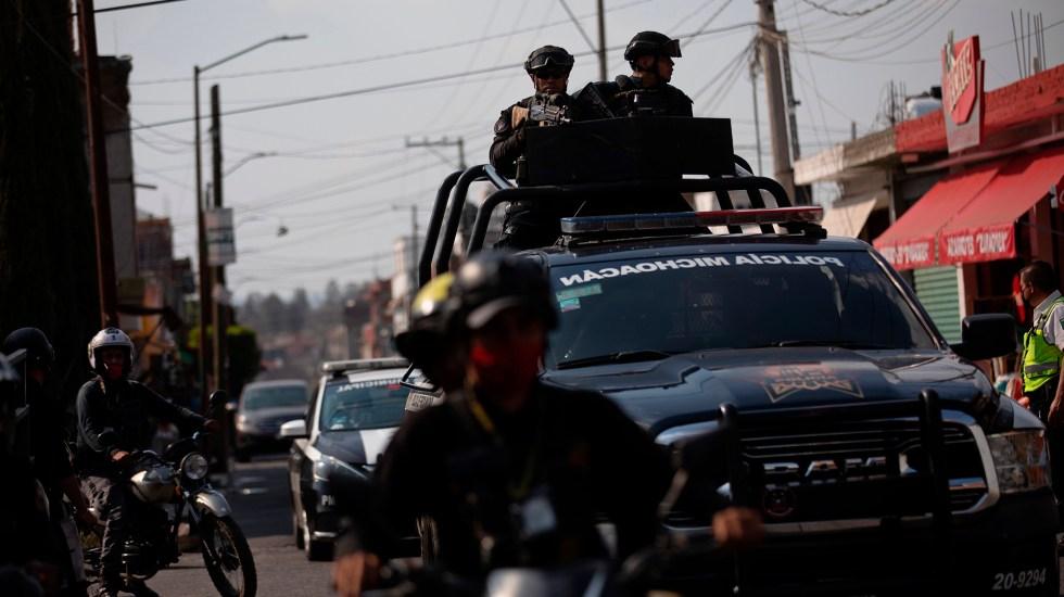 Suman 85 mil 893 homicidios dolosos en lo que va del sexenio - Patrullajes en Morelia de la Policía de Michoacán. Foto de EFE