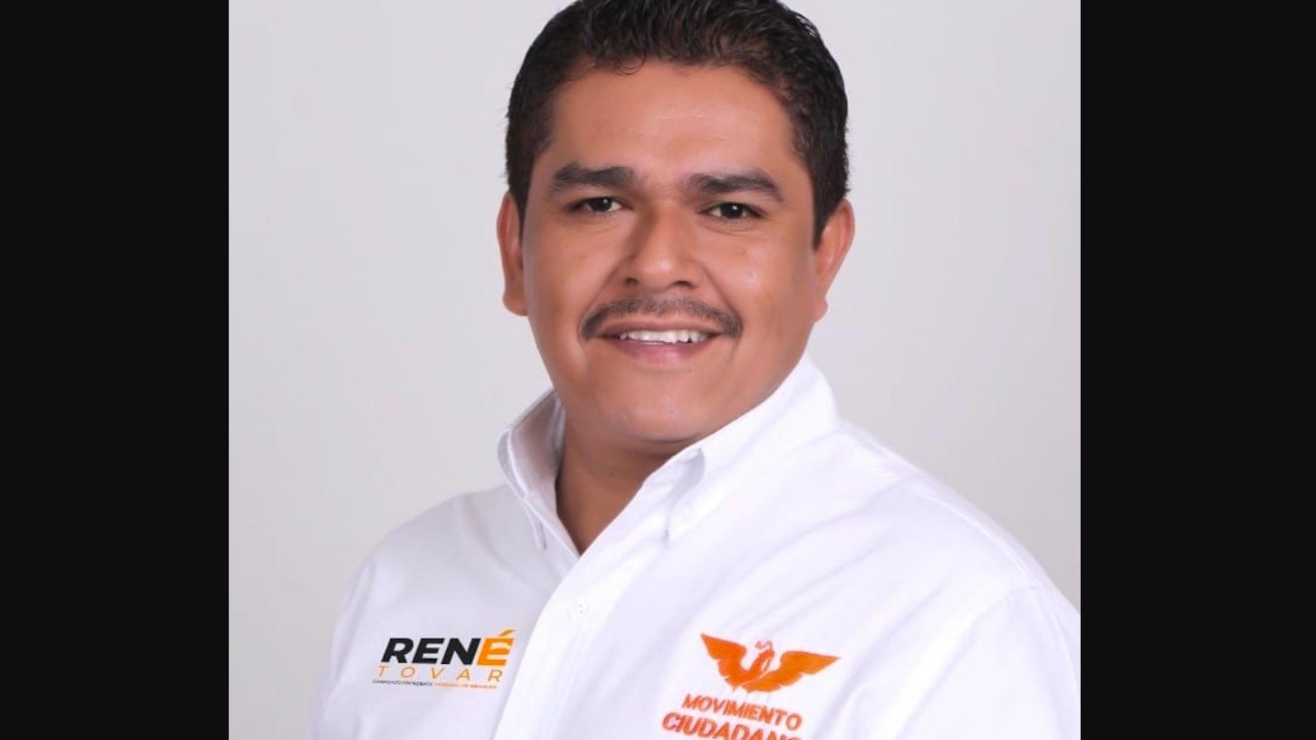 candidato René Tovar, candidato de MC a la alcaldía de Cazones de Herrera, Veracruz. Foto de Facebook René Tovar Tovar
