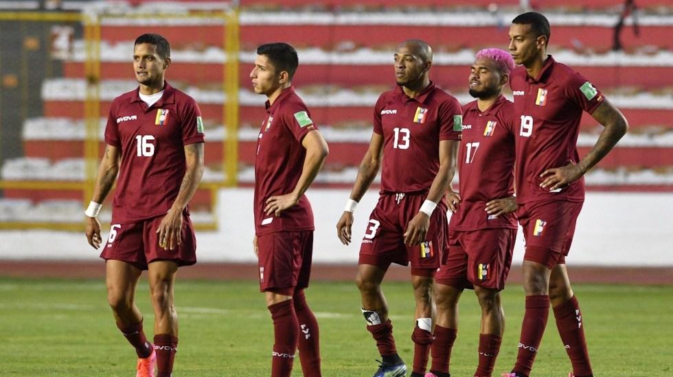 Tras el brote de COVID-19, Venezuela convoca a 15 jugadores más para Copa América - La Selección de Venezuela. Foto de EFE/Aizar Raldés POOL.