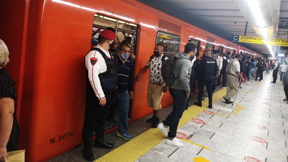 Pandemia redujo 44.4 por ciento afluencia en Metro de la Ciudad de México - Afluencia en Metro de la Ciudad de México. Foto de @MetroCDMX