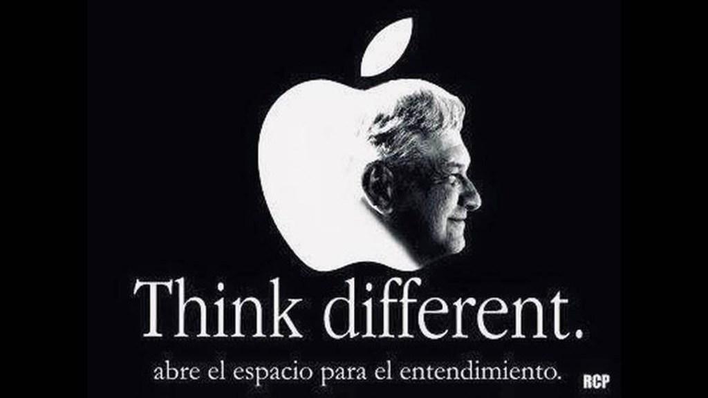 Morena edita campaña de Apple con rostro de AMLO; desata críticas - AMLO Andrés Manuel López Obrador Apple Morena