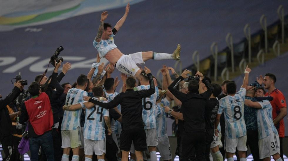 Alberto Fernández felicita a Argentina tras ganar la Copa América - Argentina Messi Fernández