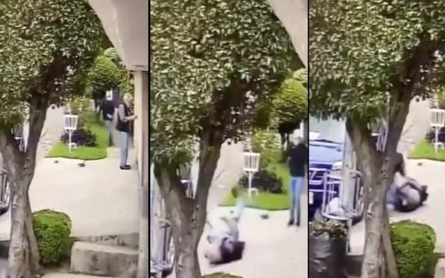 #Video Asaltan a adulto mayor afuera de su casa en Naucalpan - Asalto adulto mayor Satélite Naucalpan