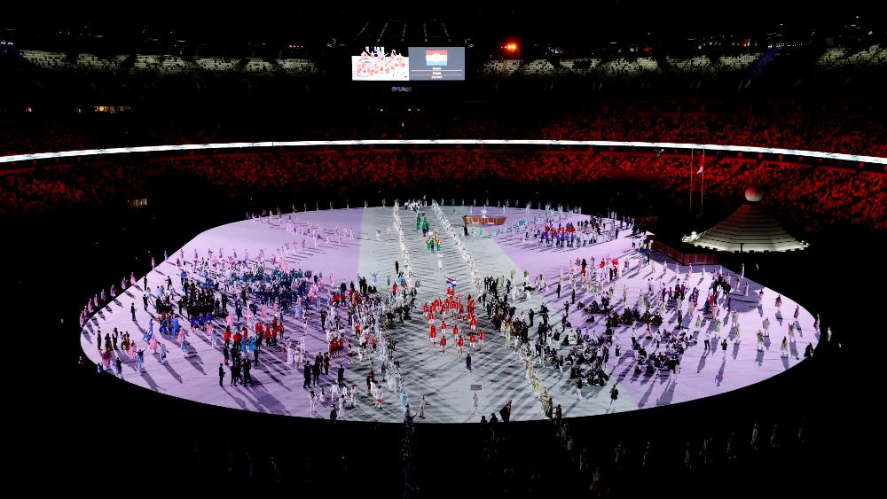 Atletas desfile inauguración Tokio 2020