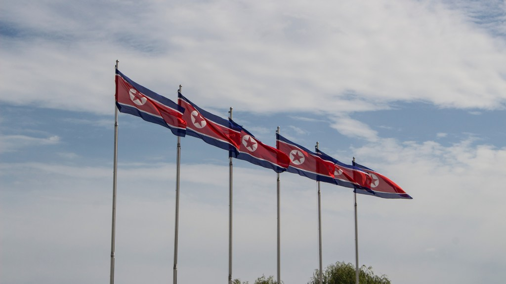México restablecerá relaciones diplomáticas con Corea del Norte - Bandera Corea del Norte México
