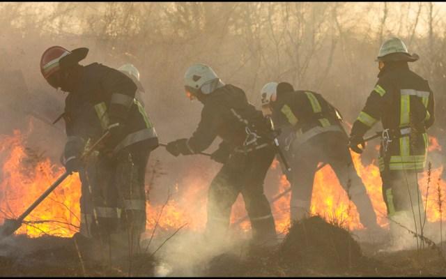 Envía México combatientes de incendios forestales para apoyar en Canadá - Bomberos y brigadistas mexicanos van a Canadá. Foto de @ConsuladoMexVan