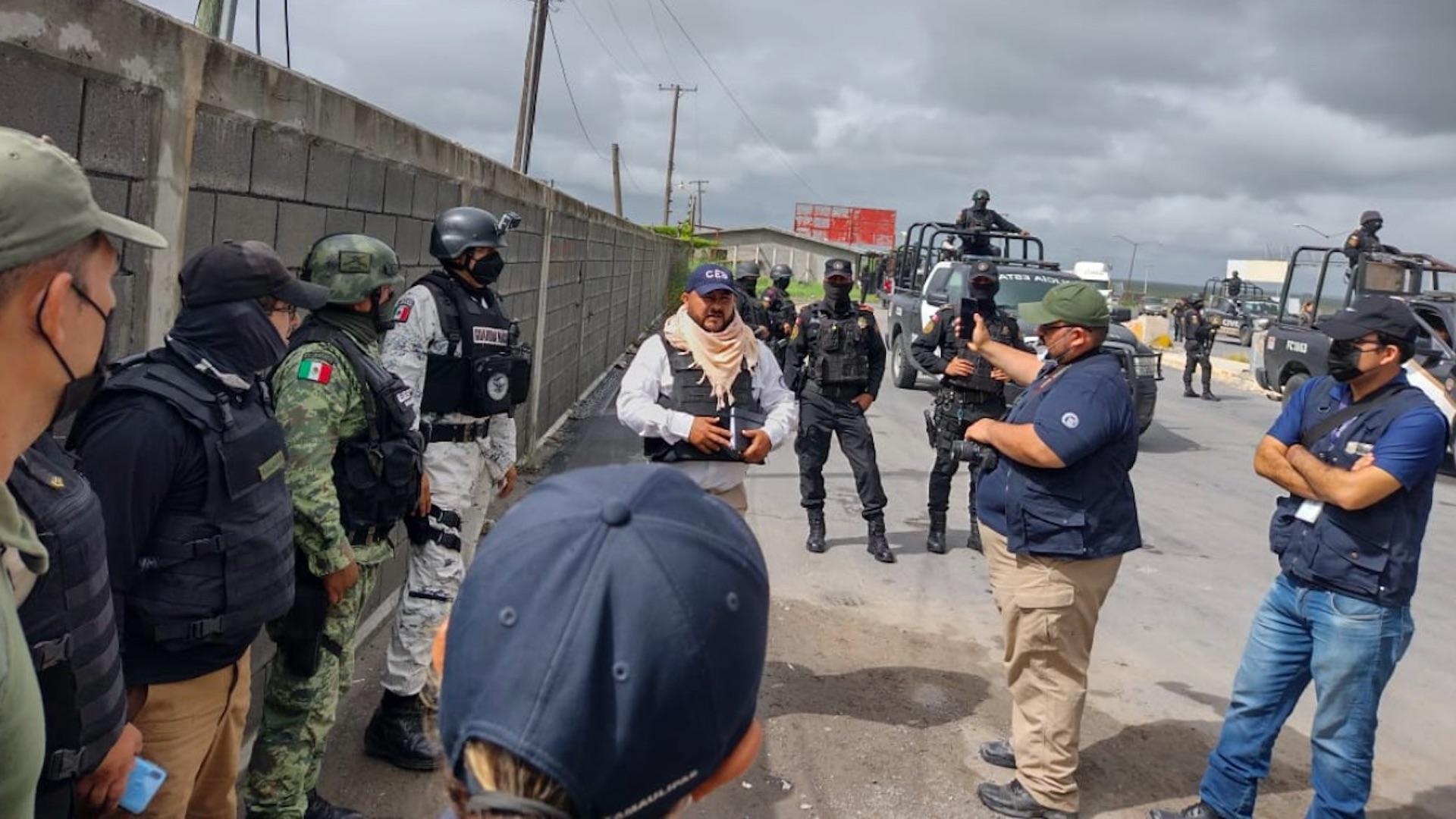 Tamaulipas y Nuevo León realizan operativos de búsqueda en carreteras. Foto de Fiscalía Tamaulipas