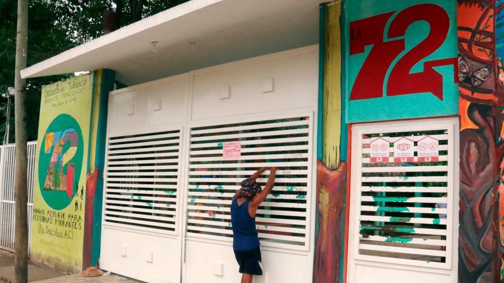 Cierra casa de migrantes en Tabasco por contagios de COVID-19 - Casa refugio para migrantes La 72 en Tabasco. Foto de EFE