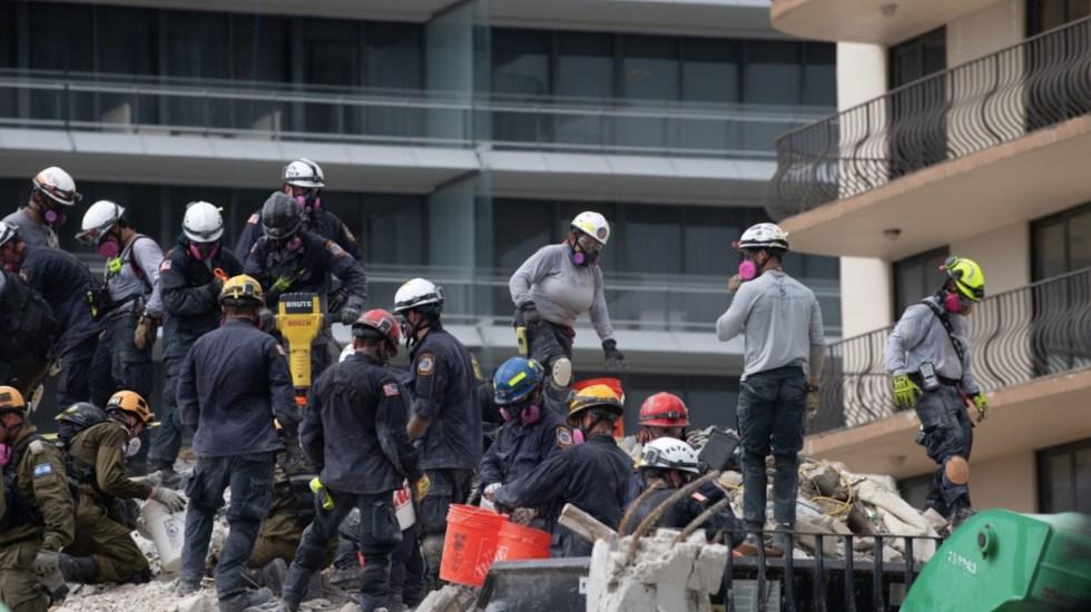 Aumenta a 24 el número de muertos por derrumbe en edificio de Miami - Aumenta a 24 el número de muertos por derrumbe en edificio de Miami. Foto de @MayorDaniella