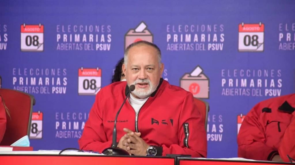 """Diosdado Cabello niega protestas en Cuba; """"estaban celebrando la Eurocopa"""", dice - Diosdado Cabello. Foto de @PartidoPSUV"""