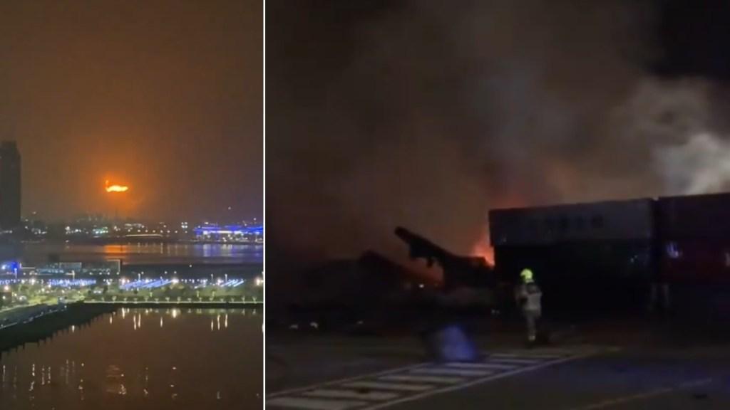 Fuerte explosión en puerto de Dubai sacude varios edificios - Dubai
