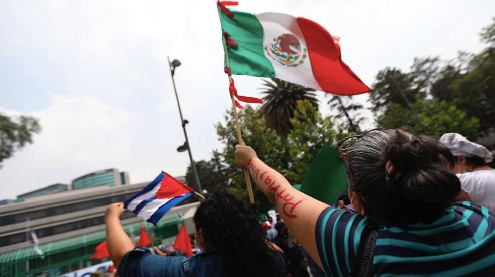 Simpatizantes y opositores chocan en Embajada de Cuba en México - Cuba