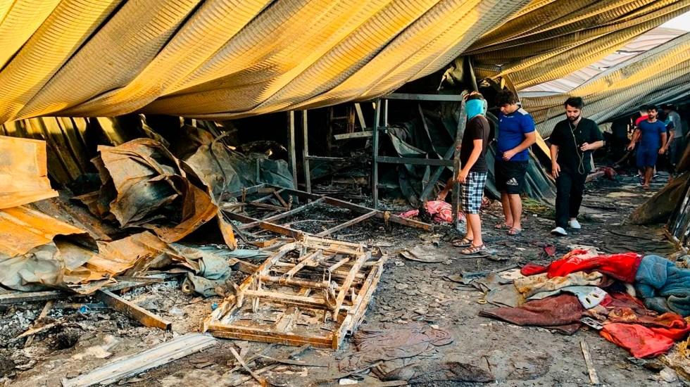 Incendio de hospital COVID-19 en Irak deja al menos 64 muertos - Incendio en hospital COVID-19 de Irak. Foto de EFE