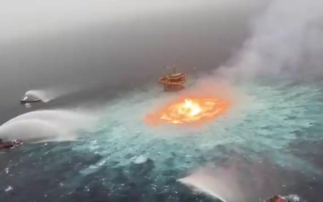 Tormenta y fuga en gasoducto provocó incendio en Sonda de Campeche: Pemex - incendio sonda Campeche