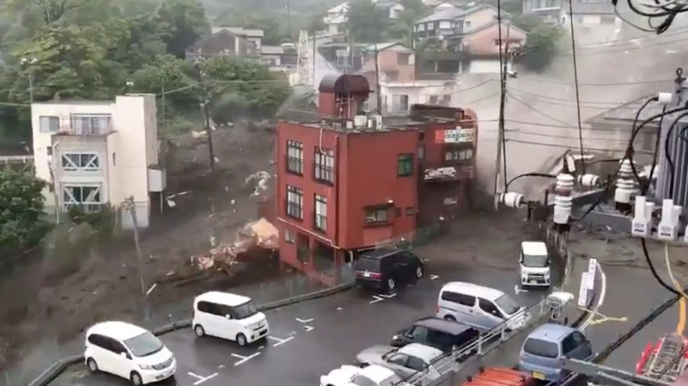 Lluvias récord en Japón dejan dos muertos y 20 desaparecidos - Lluvias récord en Japón dejan dos muertos y 20 desaparecidos. Foto tomada de EFE