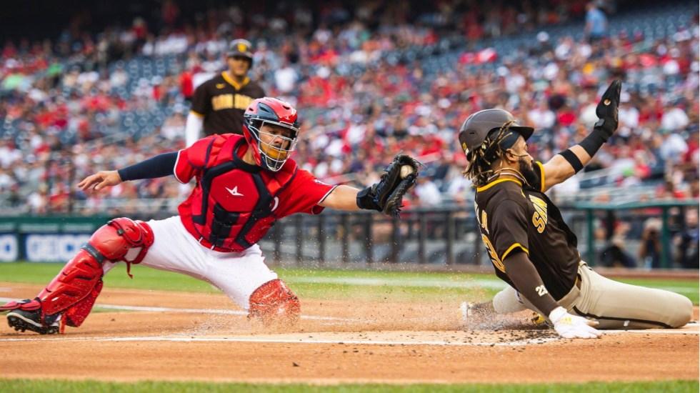 Los Padres ganan duelo ante Nationals suspendido por tiroteo - Los Padres Nationals Washington partido